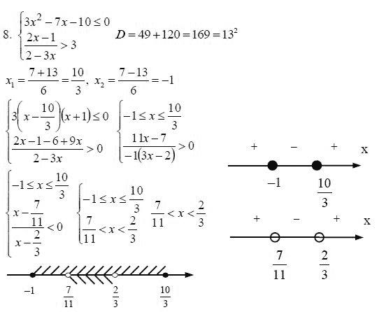 9 контрольная гдз класс алгебре 8 по