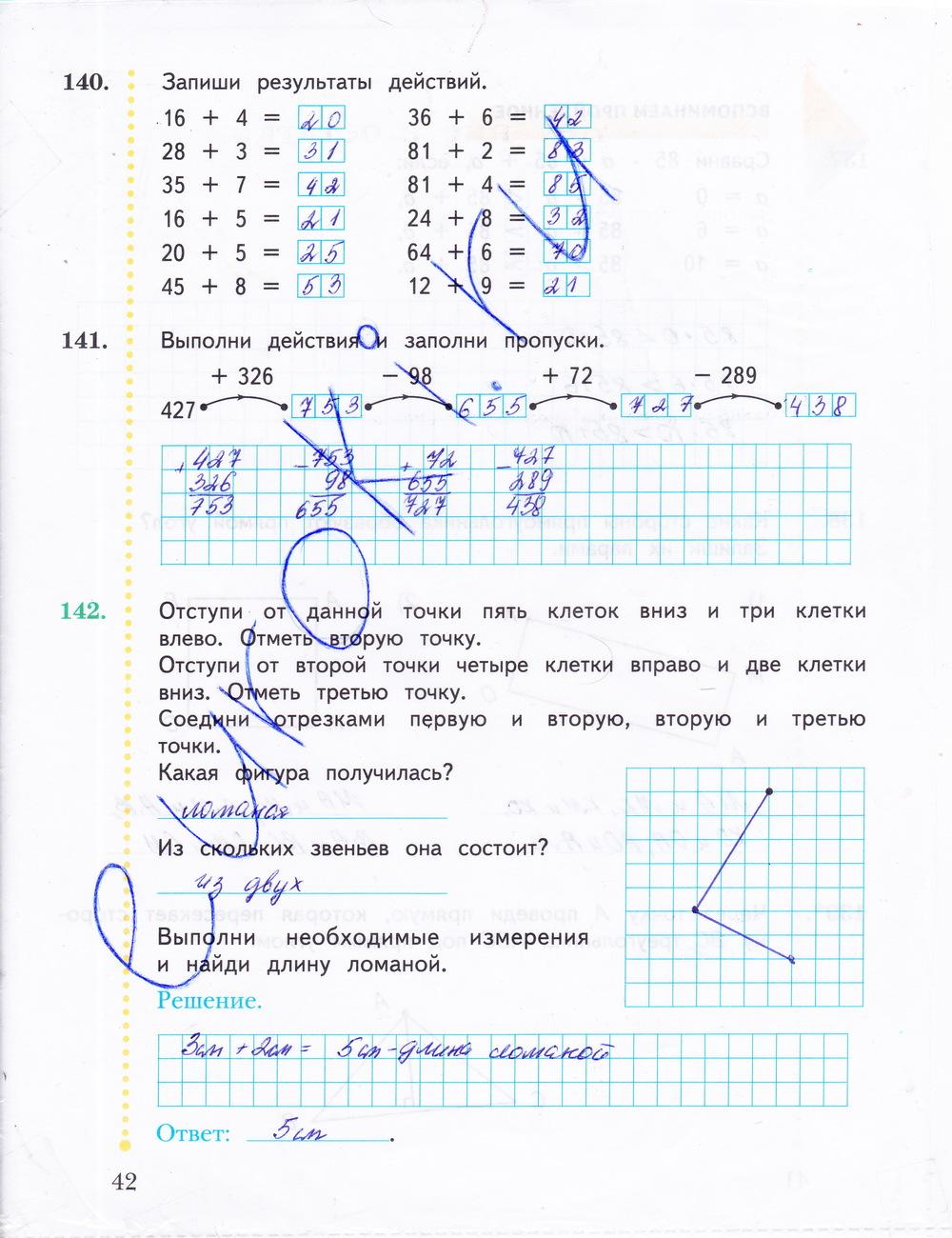 гдз по математике 2 класс рабочая тетрадь номер 2 рудницкая юдачева