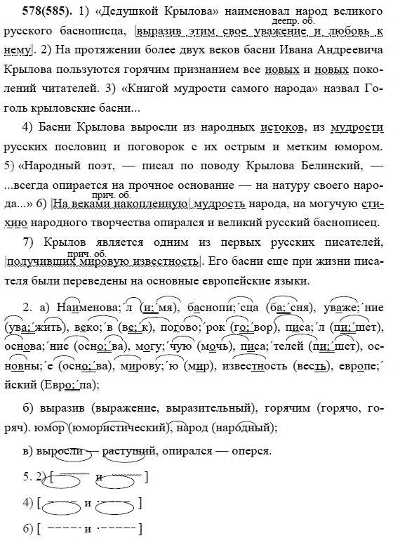 Гдз по русскому языку в учебнике 7 класс разумовская