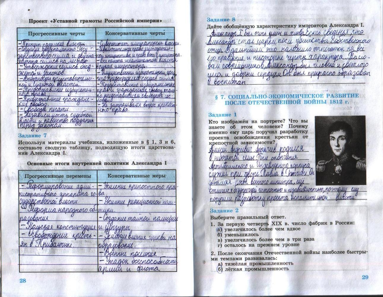 Данилов рабочая по 8 класса тетрадь россии гдз косулина истории