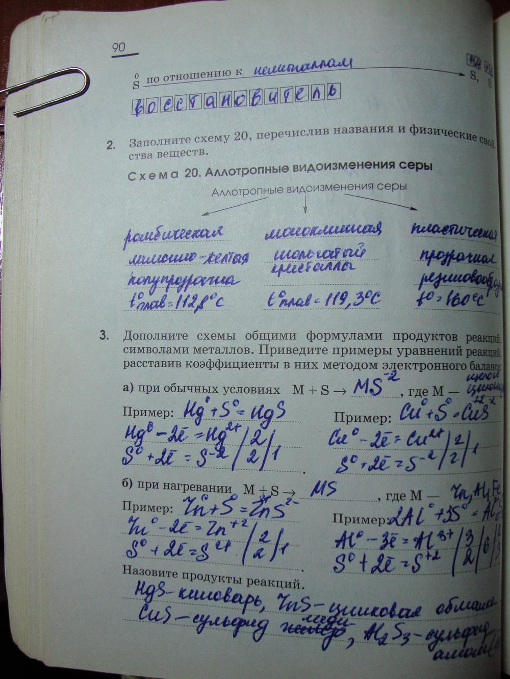 гдз по химии 9 класс рабочая тетрадь онлайн