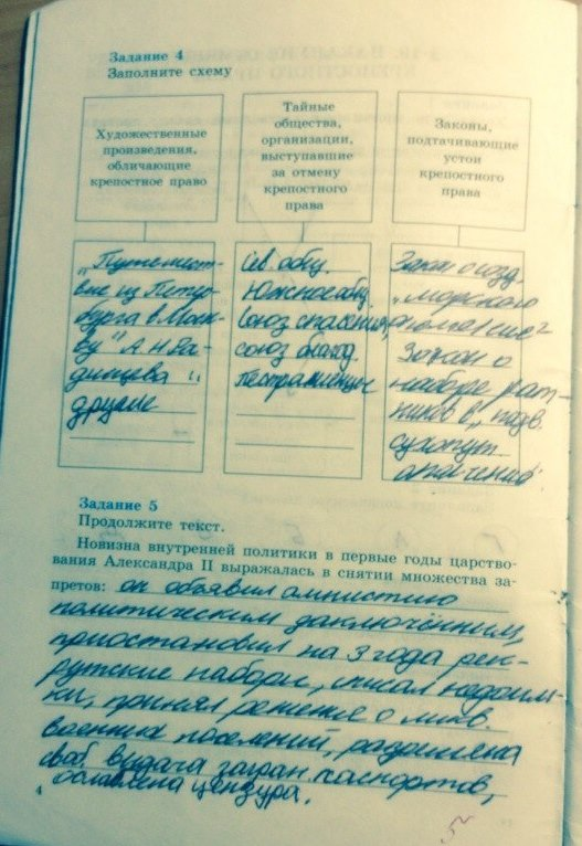 8 решебник тетрадь класс история