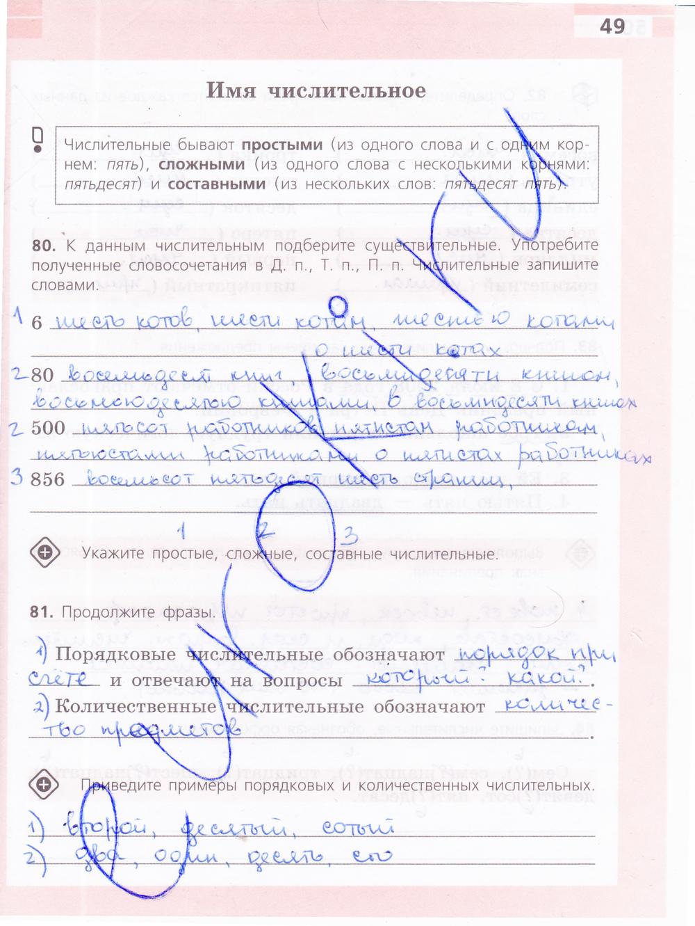 Гдз По Рабочей Тетрадей По Русскому Языку 6 Класс Ефремова