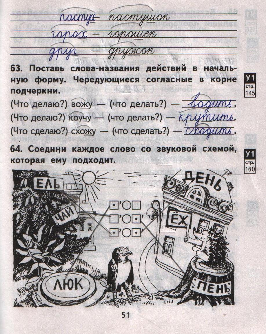 Часть класс русский т.а. о.в.малаховская язык решебник 2 байкова 2