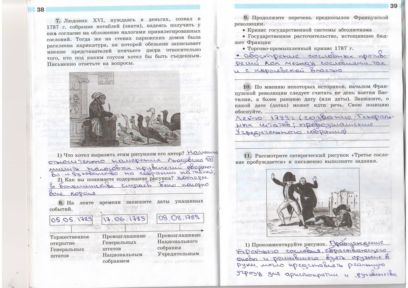Тетрадь всеобщей 2018 класс истории рабочая 7 гдз по баранов