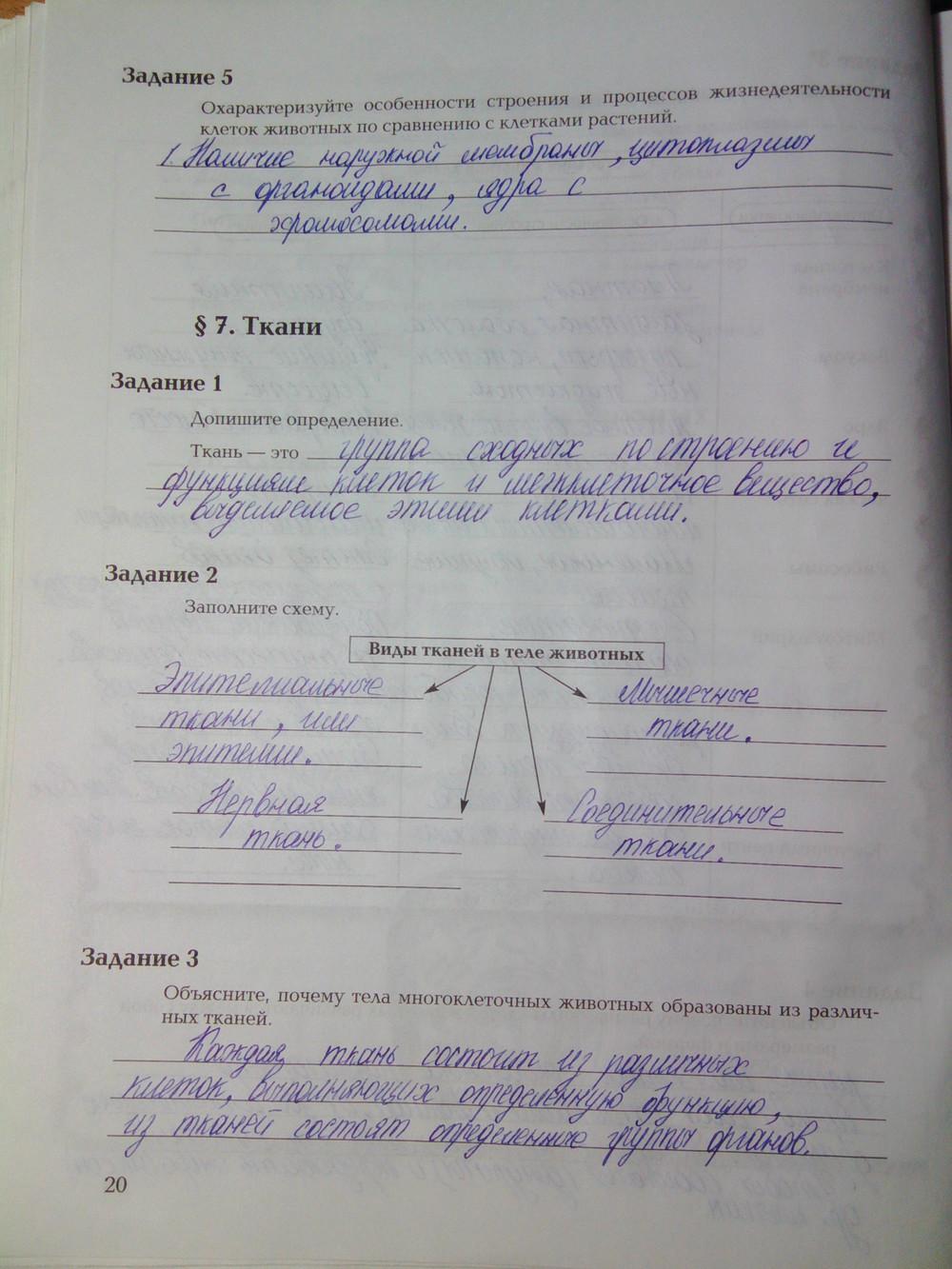 гдз рабочая тетрать по биологии