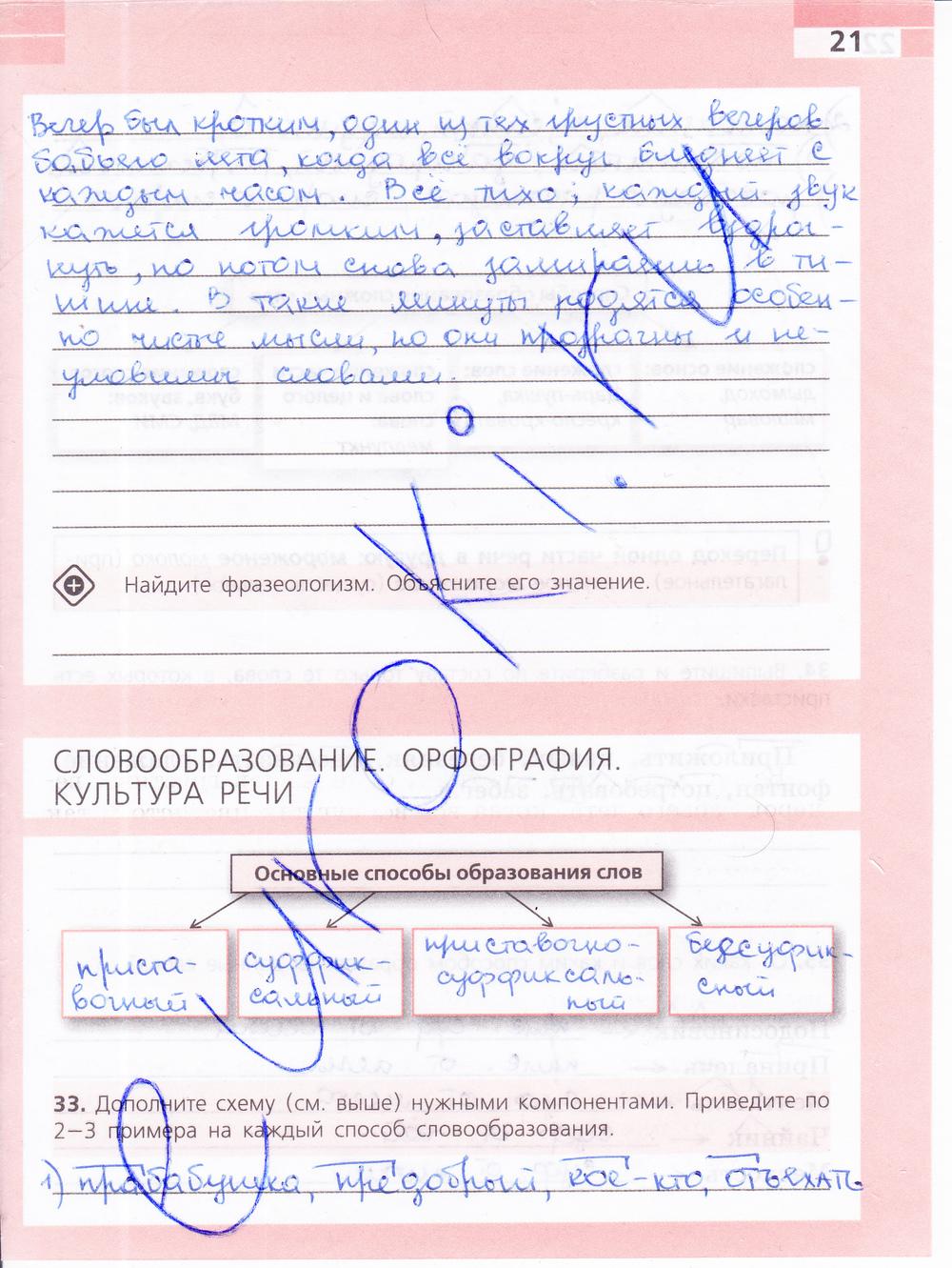 Ответы по русскому языку 6 класс Ефремова (рабочая тетрадь):