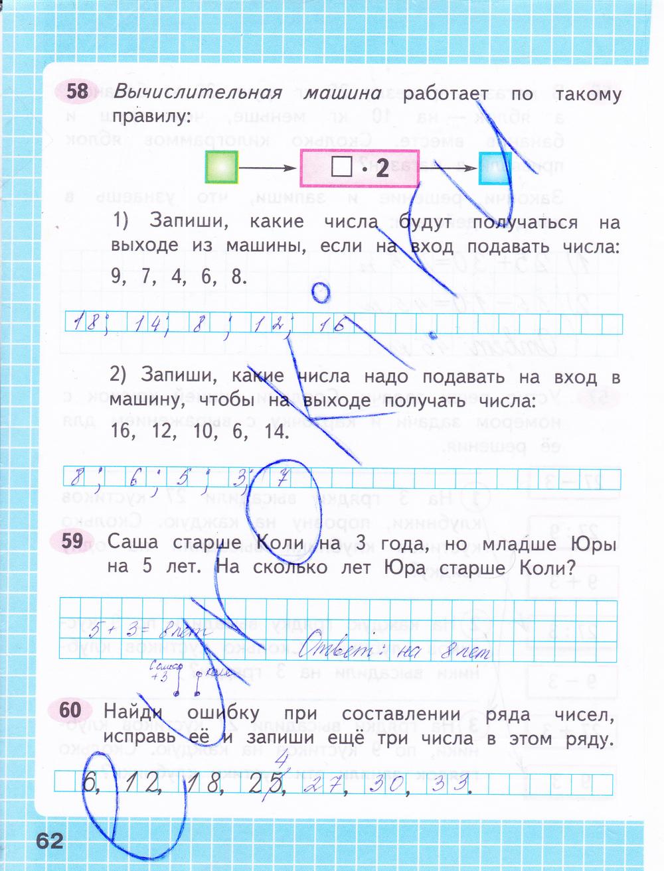 Математике гдз номер тетрадь по 2 рабочая