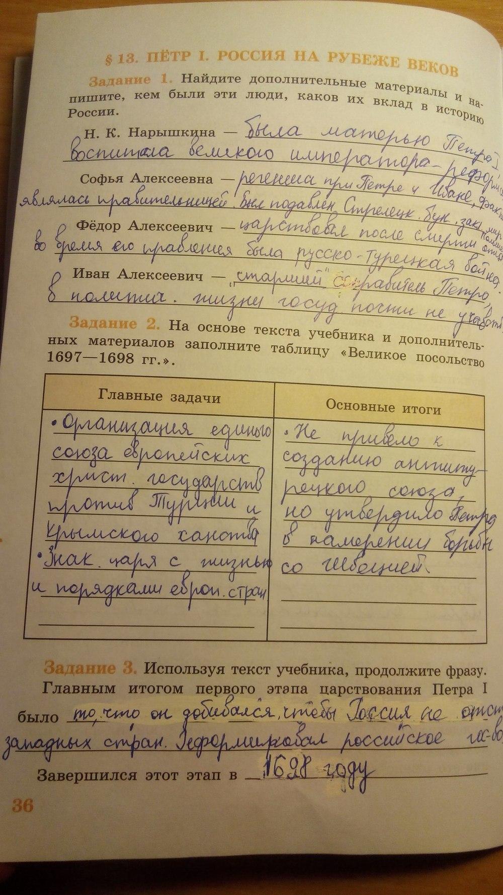 По класс 7 рабочая данилов тетрадь решебник косулина история