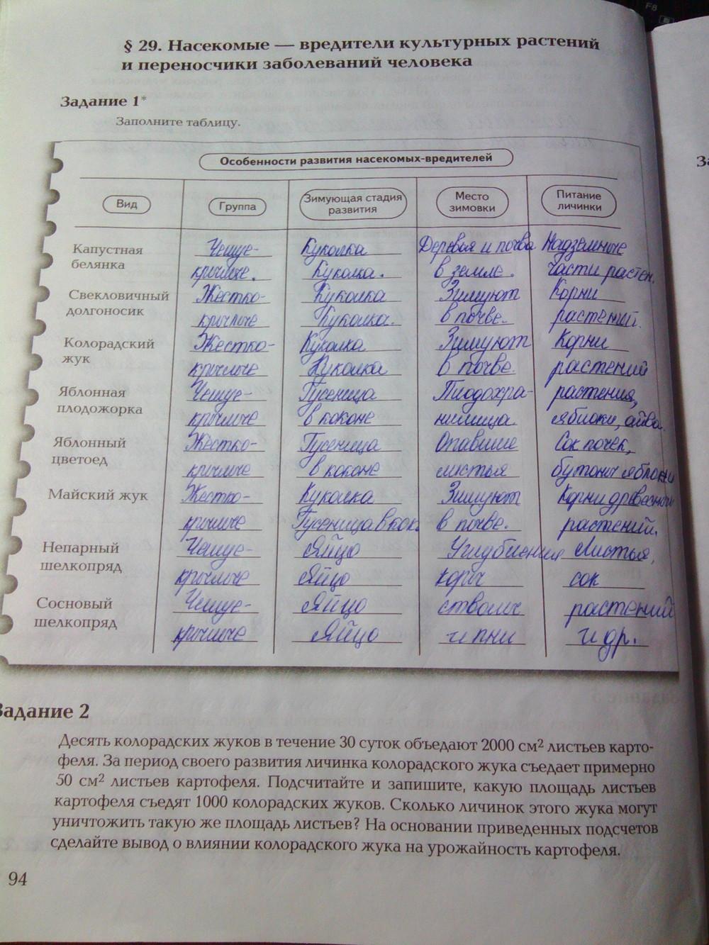 Решебник По Биологии 9 Класс Рабочая Тетрадь 34 Параграф