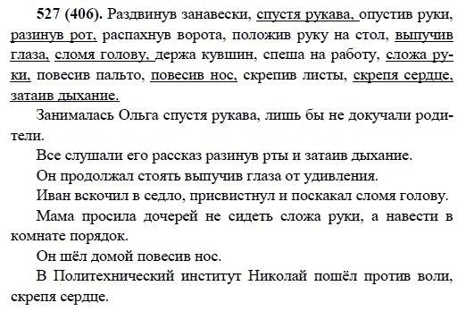 Номер гдз русский 527 класс 6