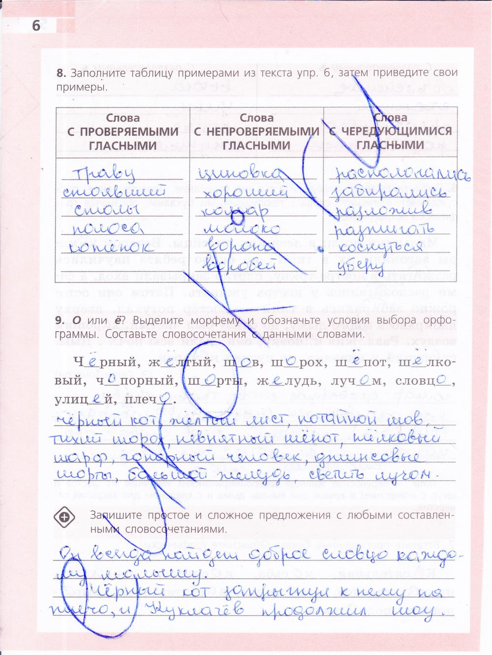 Гдз По Русскому Языку Рабочая Тетрадь 8 Класса Ефремова Рабочая Тетрадь