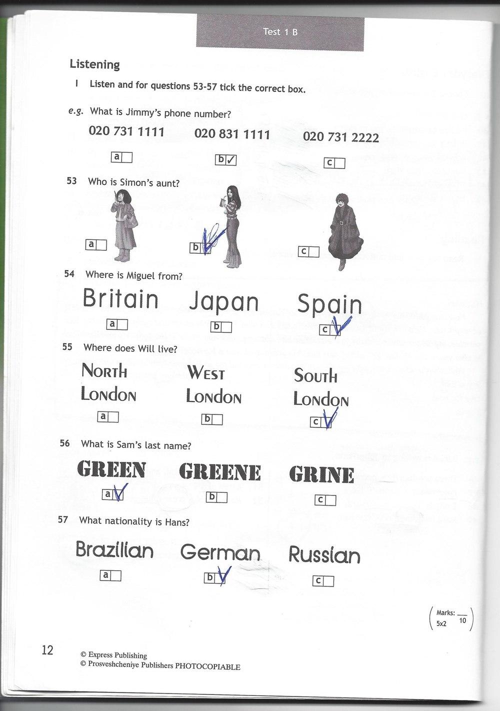 Английский 6 класс spotlight test booklet гдз