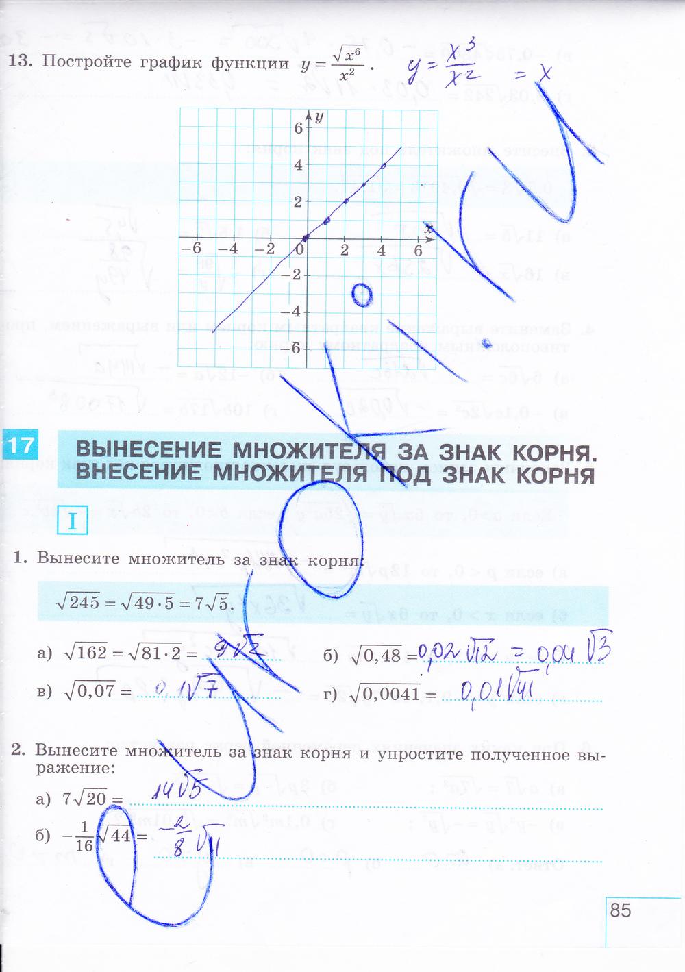 Гдз по рабочей тетради по алгебре 7 класс макарычев миндюк