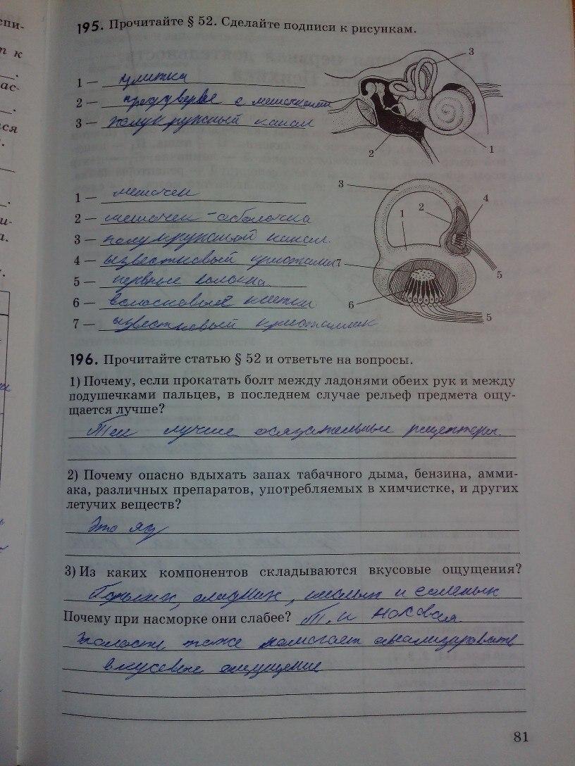 Гдз Решебник По Биологии Рабочая Тетрадь Колесов Маш Беляев