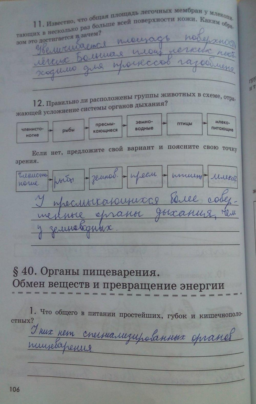 Гдз по биологии 6 класс лапшина учебник