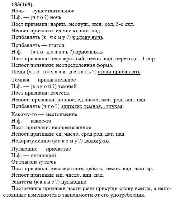 Гдз разумовская языку класса 6 по номер 168 русскому