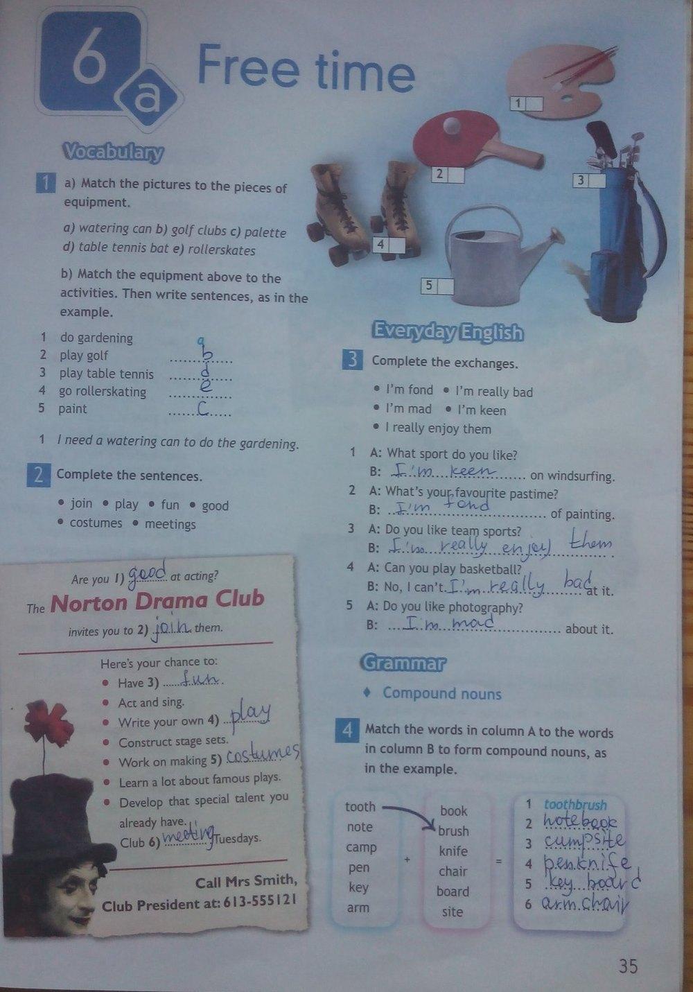 Spotlight workbook рабочая ответы тетрадь по 6 английскому языку класс гдз