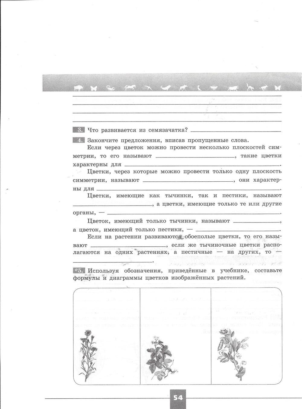 Гдз Биология 7 Класс Рабочая Тетрадь Пасечник 2018 Линия Жизни