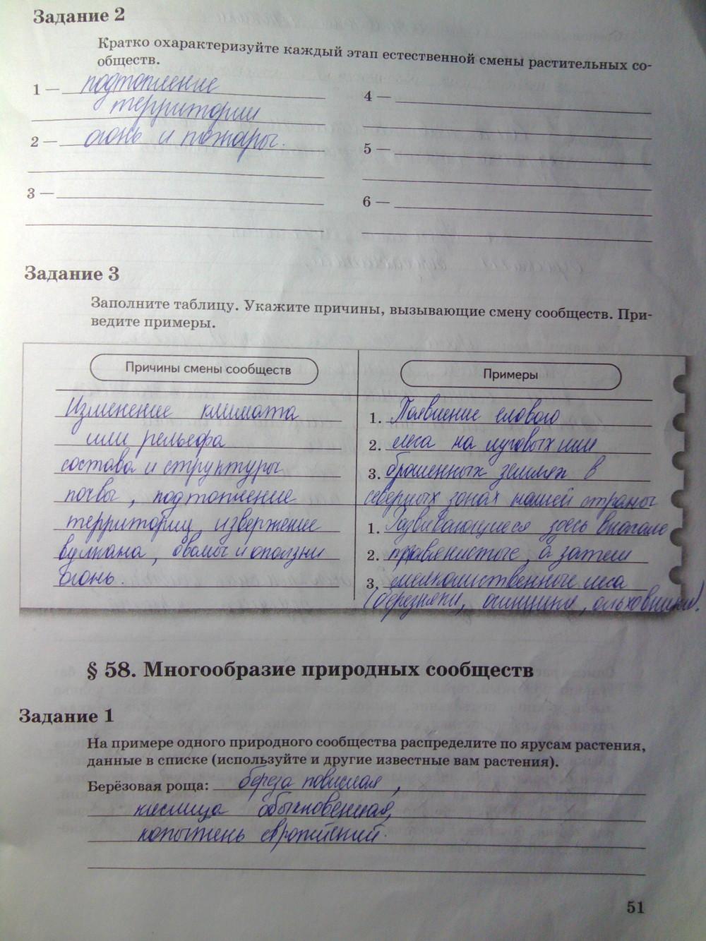 6 биология пономарева гдз класс