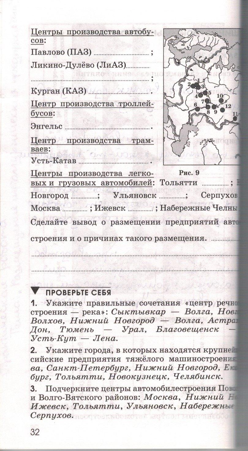 ким тетрадь 9 гдз класс по печатная географии