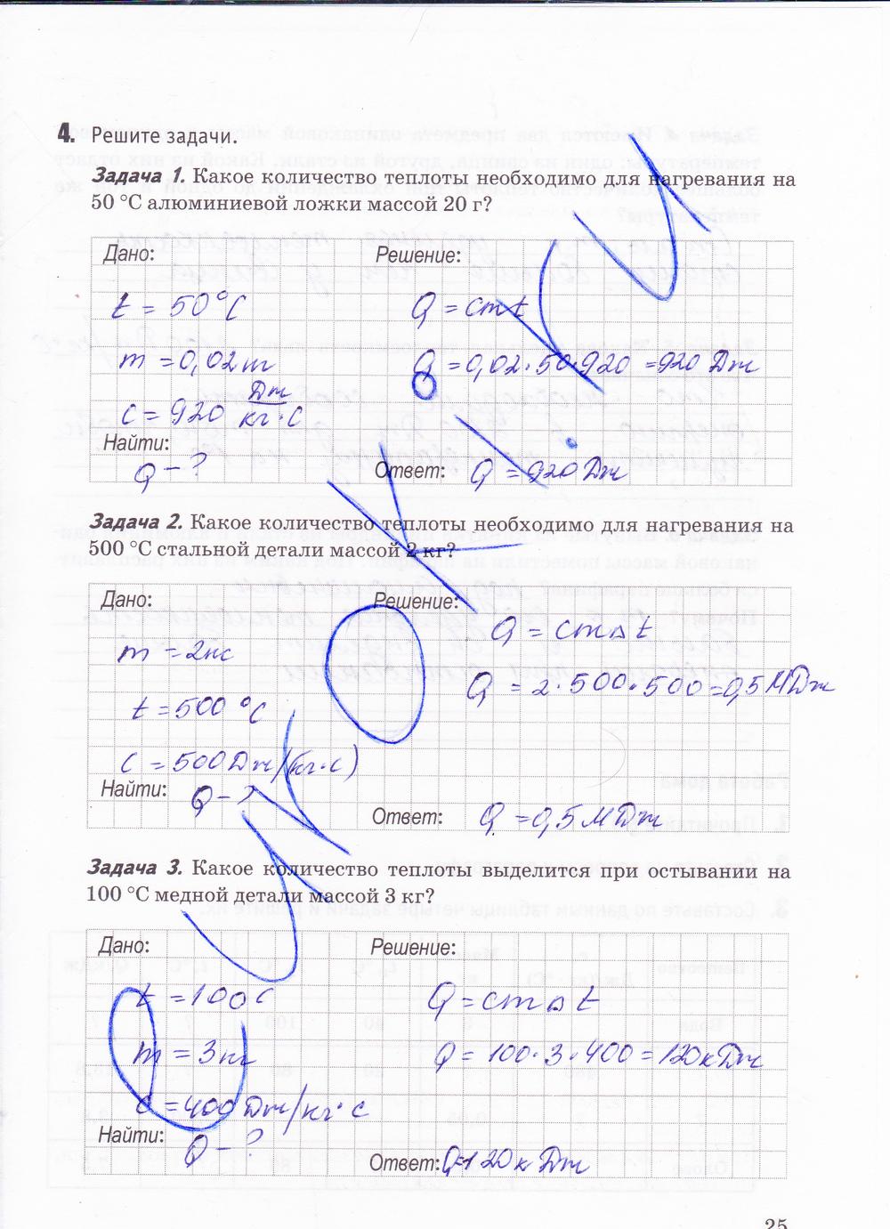Гдз 8 Класс Физика Рабочая Тетрадь У Учебнику Перышкина