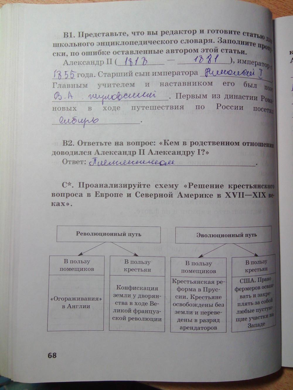 россии гдз класс 8 боханов истории за по