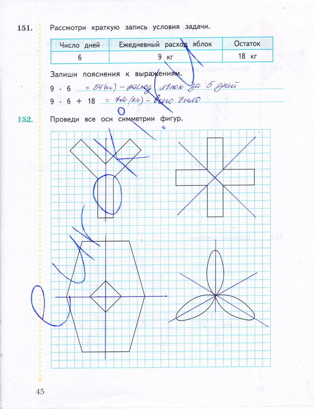 Готовые домашнее задания по математике 3 класс рудницкая рабочая тетрадь