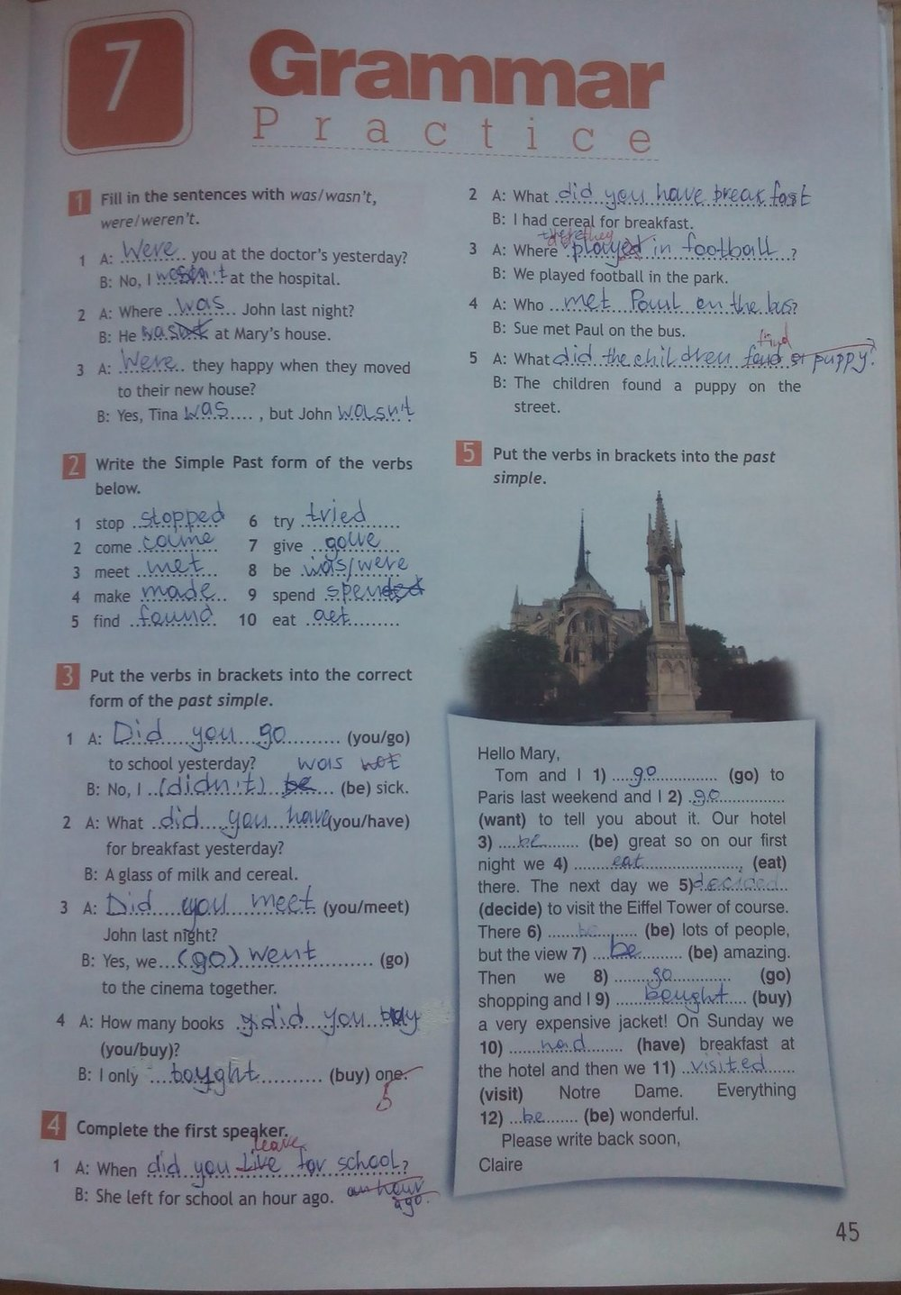 Английскому 6 workbook гдз ответы тетрадь рабочая по языку spotlight класс