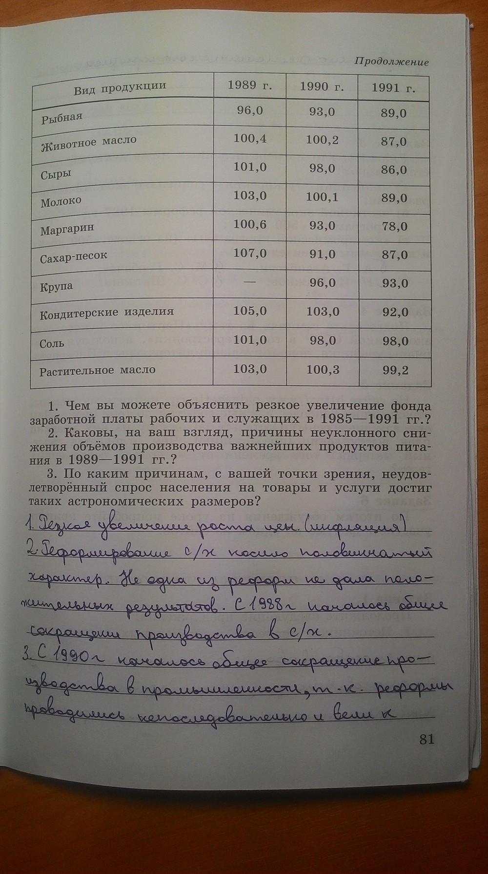 9 тетрадь рабочая по 1 россии класс гдз истории данилов