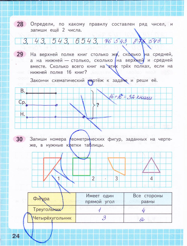 Математика 4 класс 1 часть р т гдз