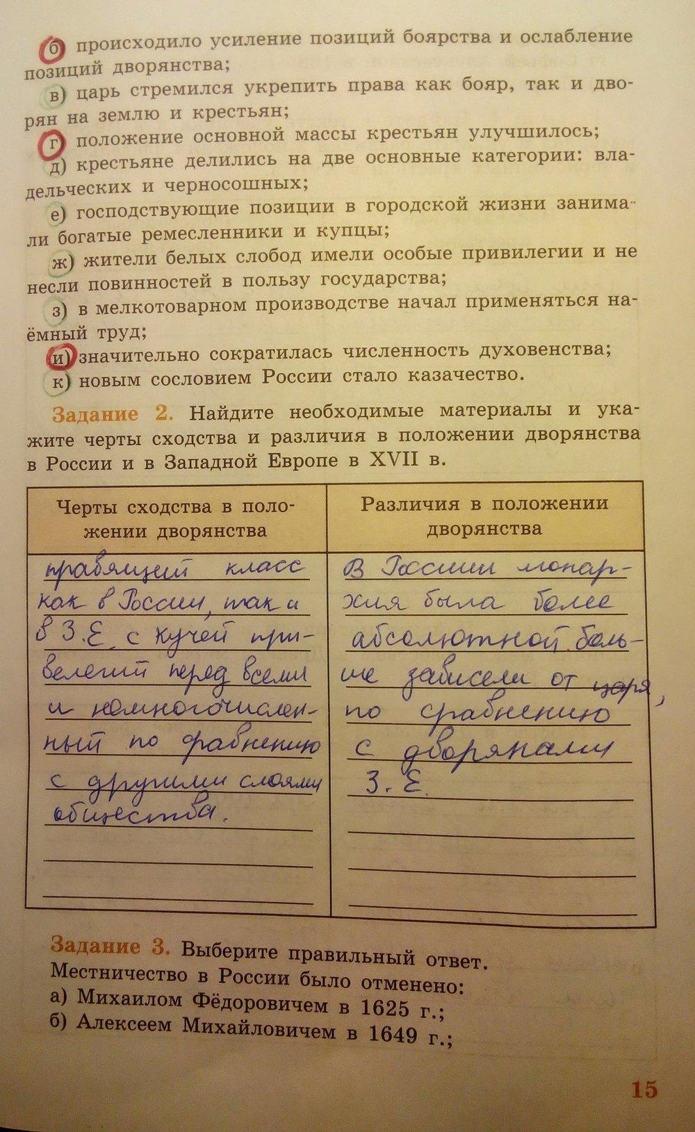 Гдз по истории рабочая тетрадь 7 класс история россии косулина