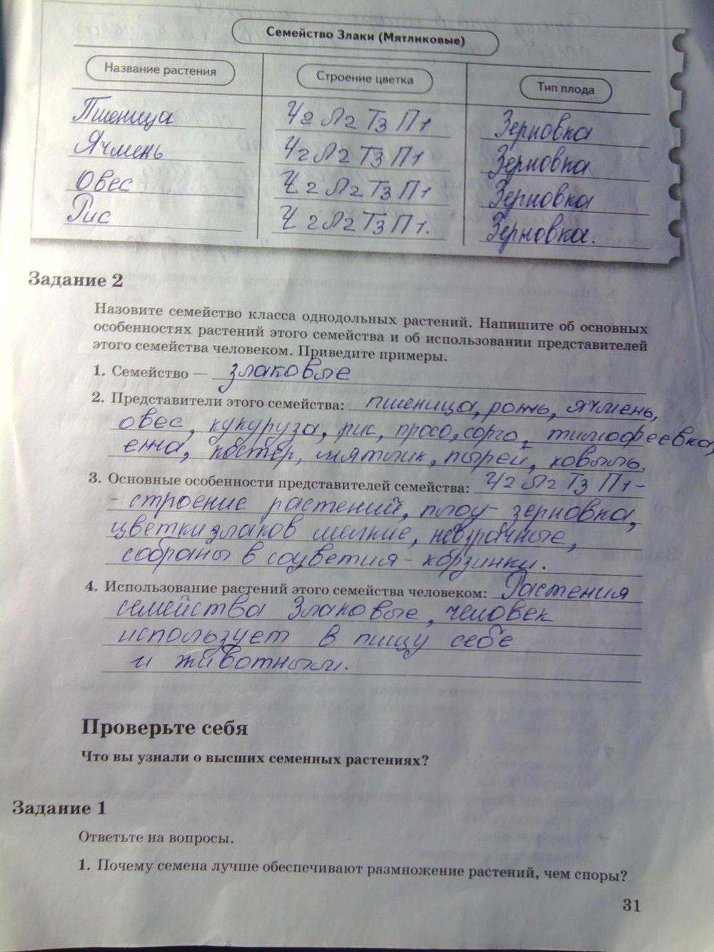 Гдз по биологии в рабочей тетради 9 класс пономарева панина корнилова