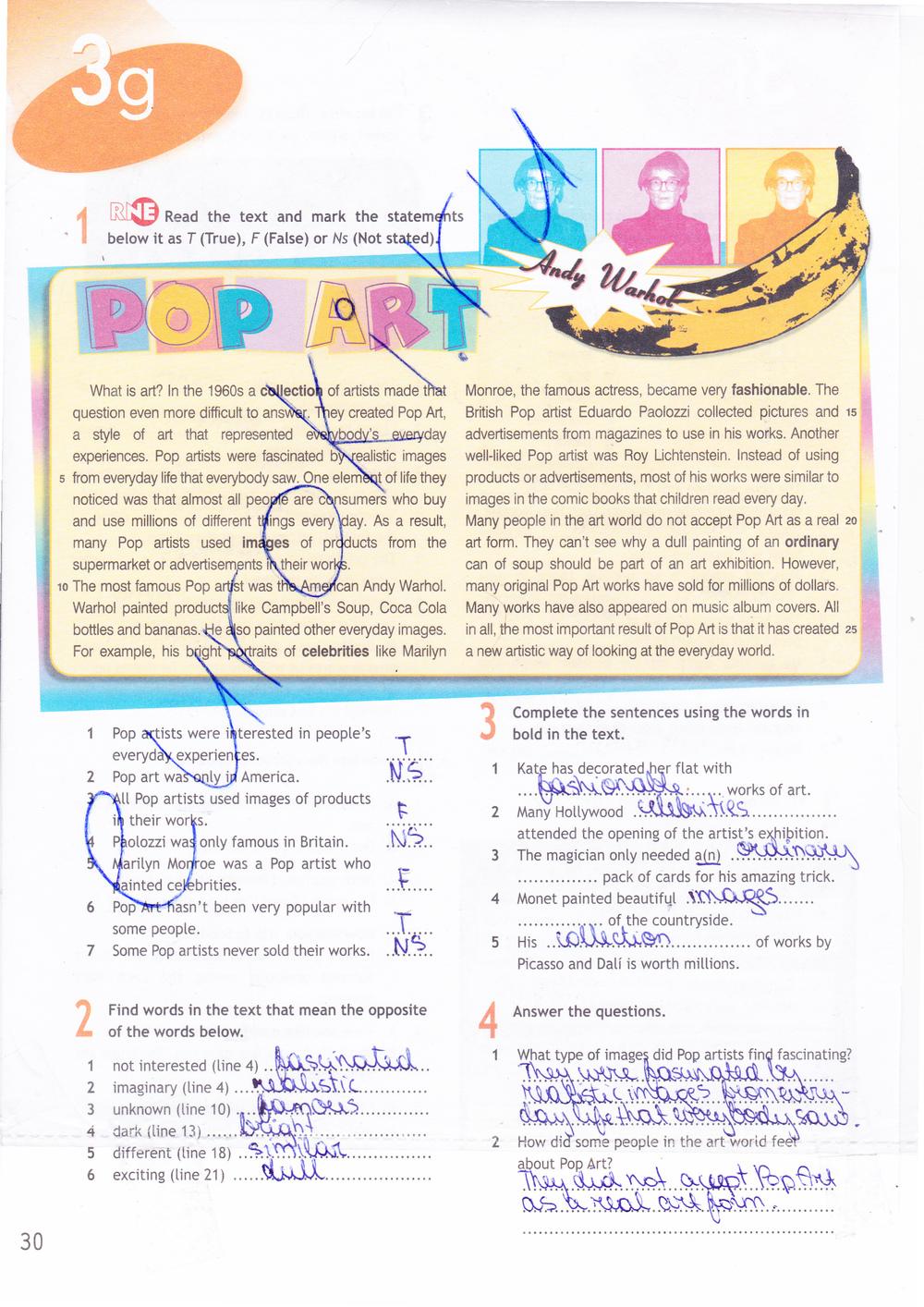 Тексты 9 гдз spotlight workbook