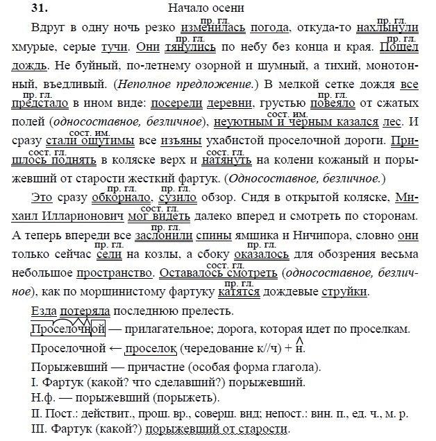 Гдз по русскому языку 31