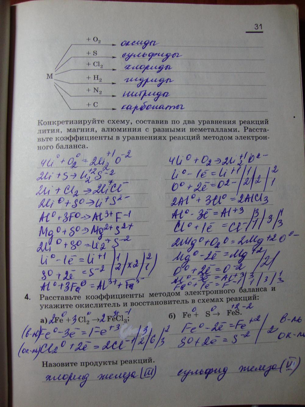 Гдз по химии тетрадь 9 класс габриэлян