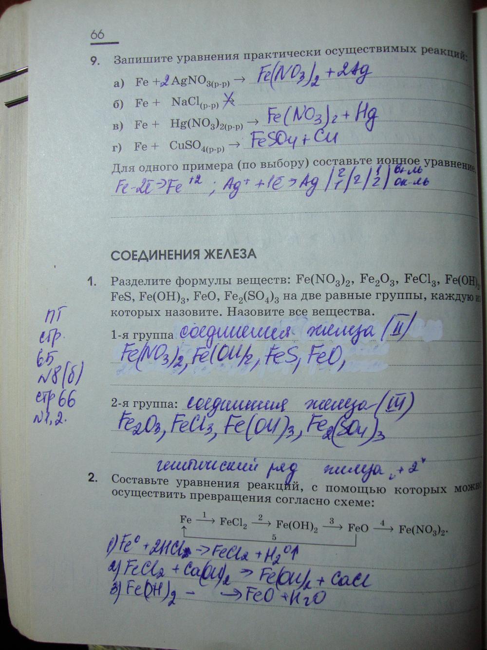 рабочая тетрадь химия 9 класс габриелянответырешебникгдзкупить
