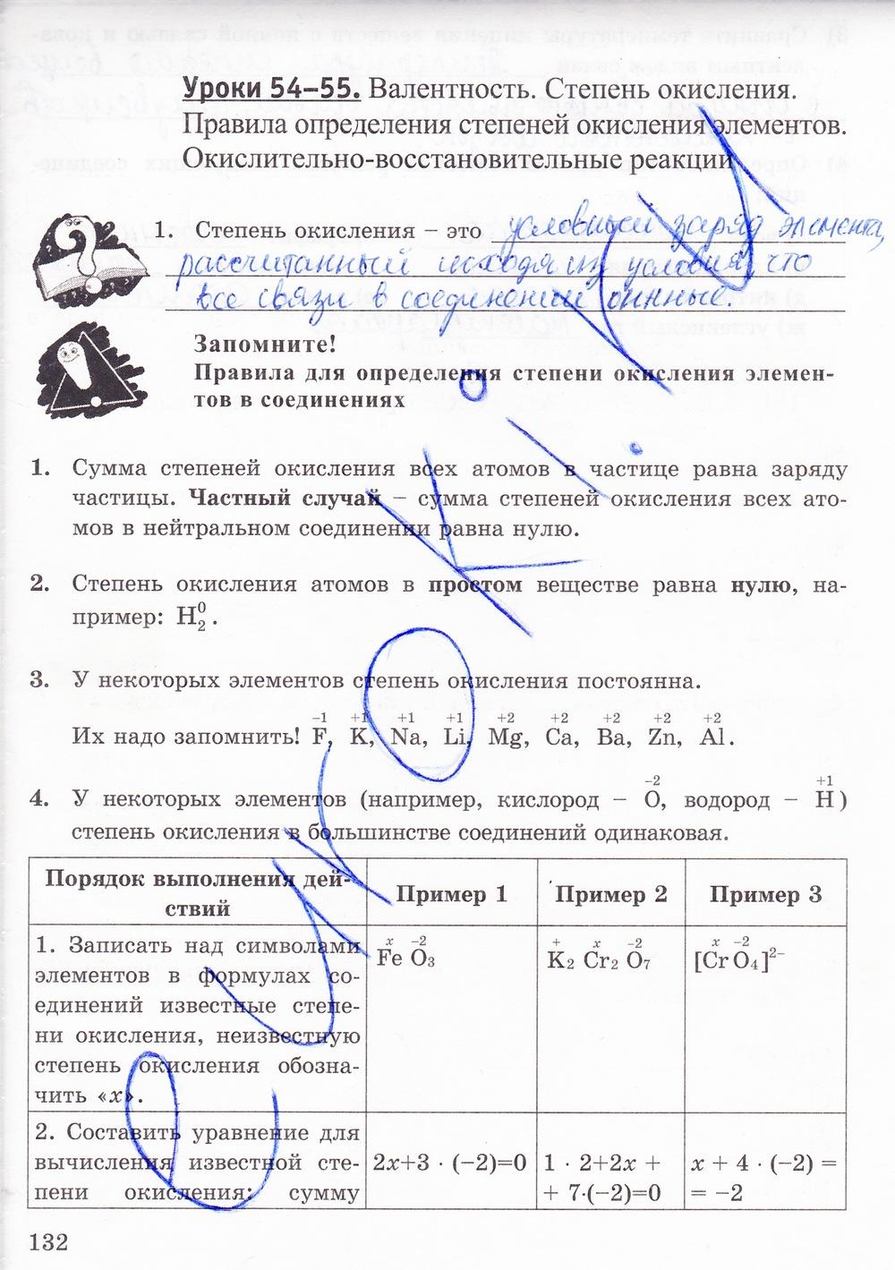 Гдз по химии 8 класс рабочая тетрадь тестовые задания