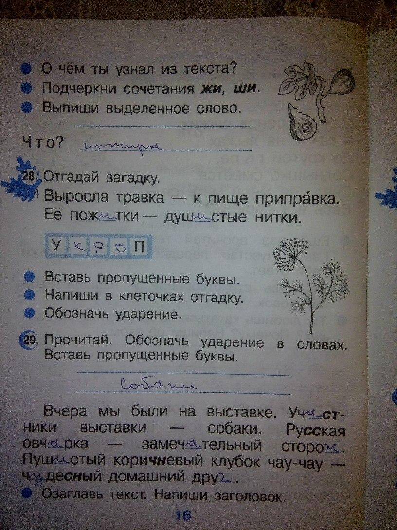 По русскому гдз от путина 2 класса по рабочей тетради