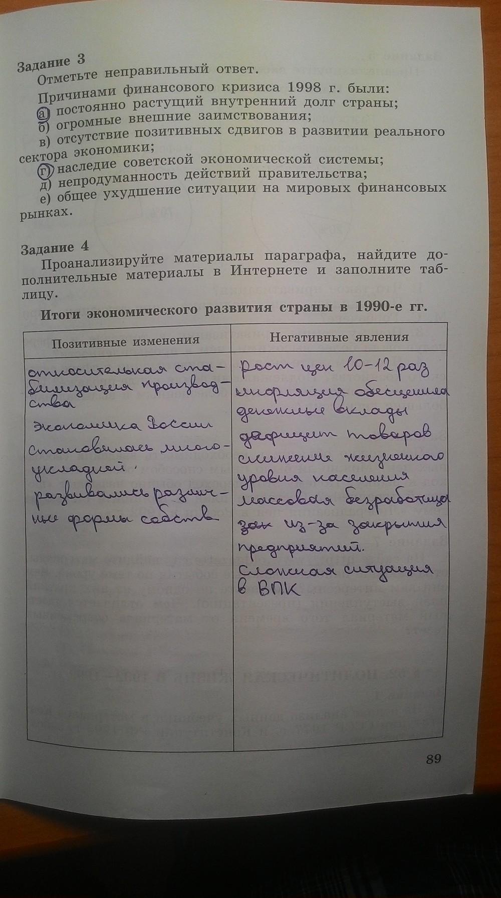 Решебник по тетради история 9 класс данилов