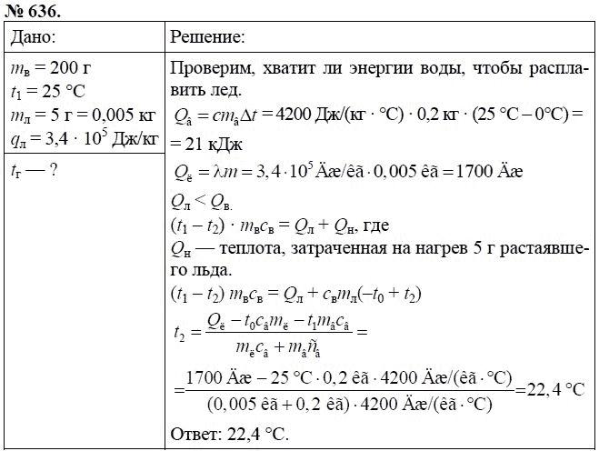 сборнику 10 физике класс 8 по задач решебник
