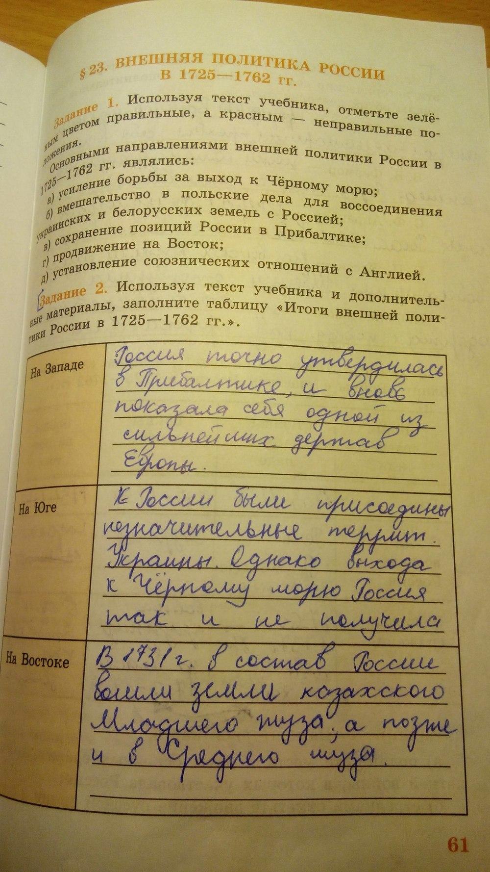 Косулина тетрадь класс 7 решебник истории данилов i по рабочая