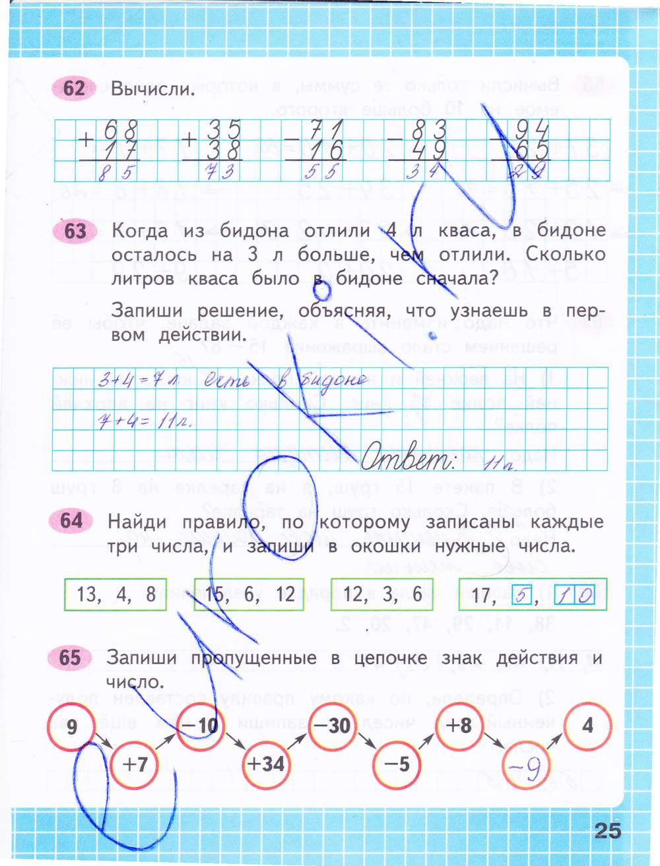 математика гдз математика рабочая тетрадь 4 класс 2 часть