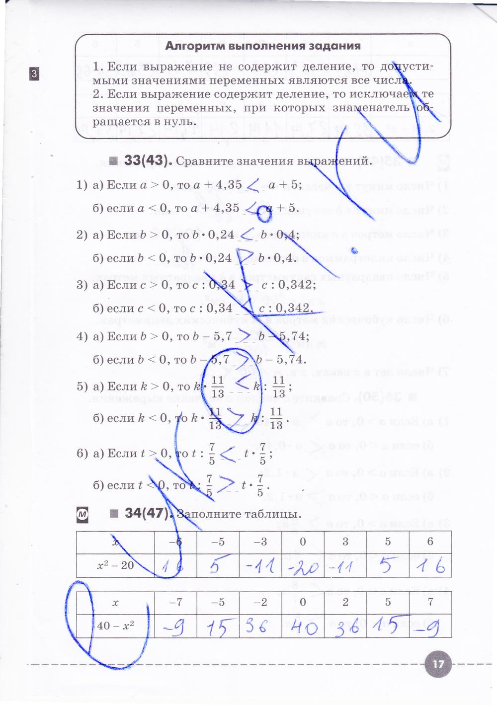 По тетради класса решебник алгебре муравин 7 рабочей по