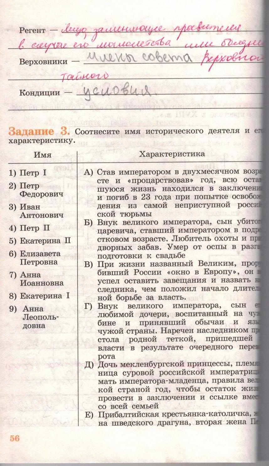 По истории класс р.т косулина россии 6 гдз