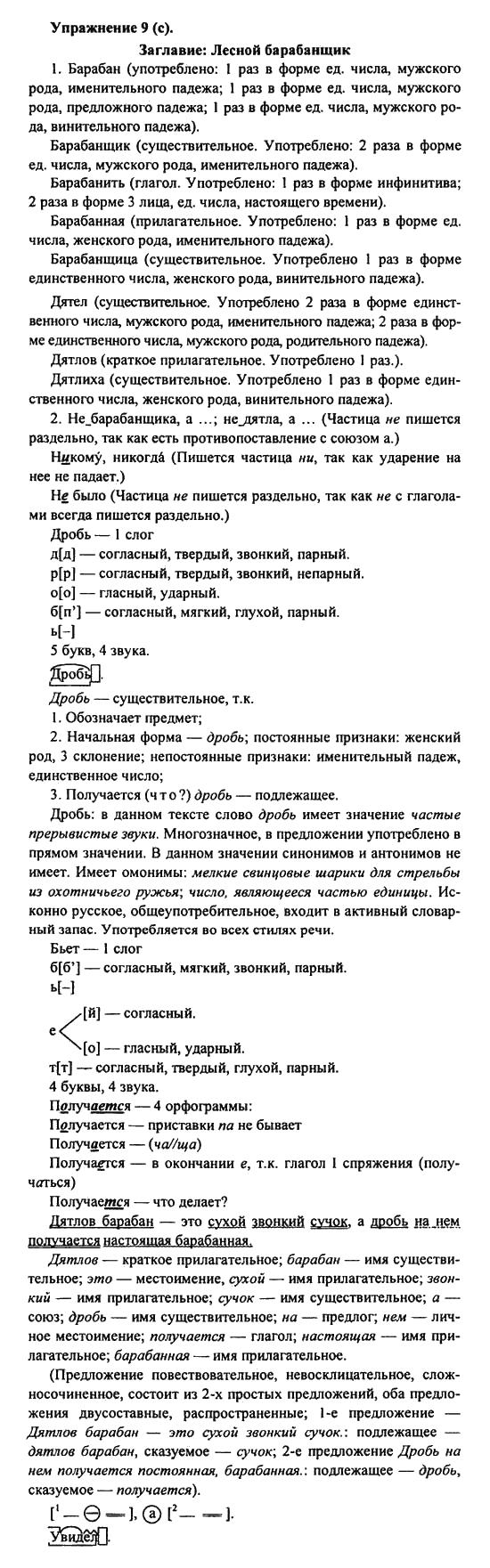 пименова решебник 9 по языку русскому класс