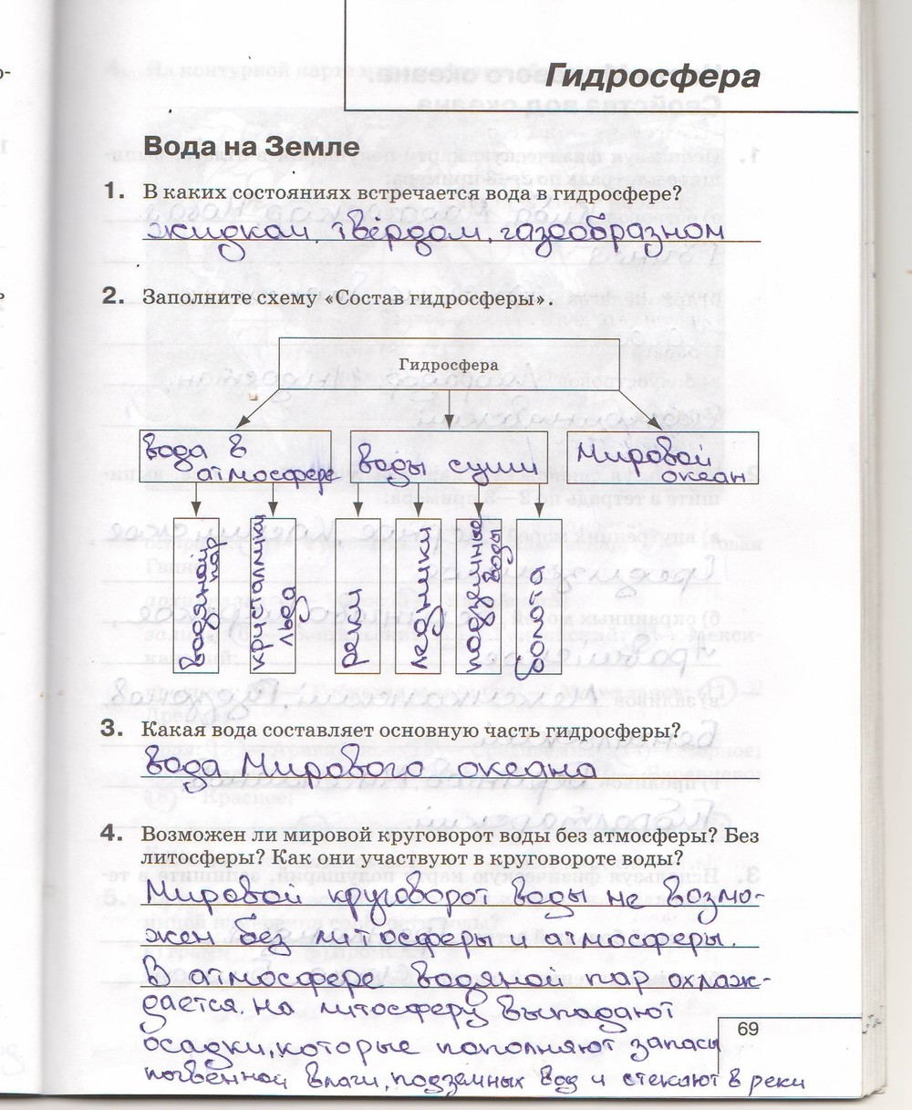гдз рабочая тетрадь по геометрии 6 класс ответы герасимова