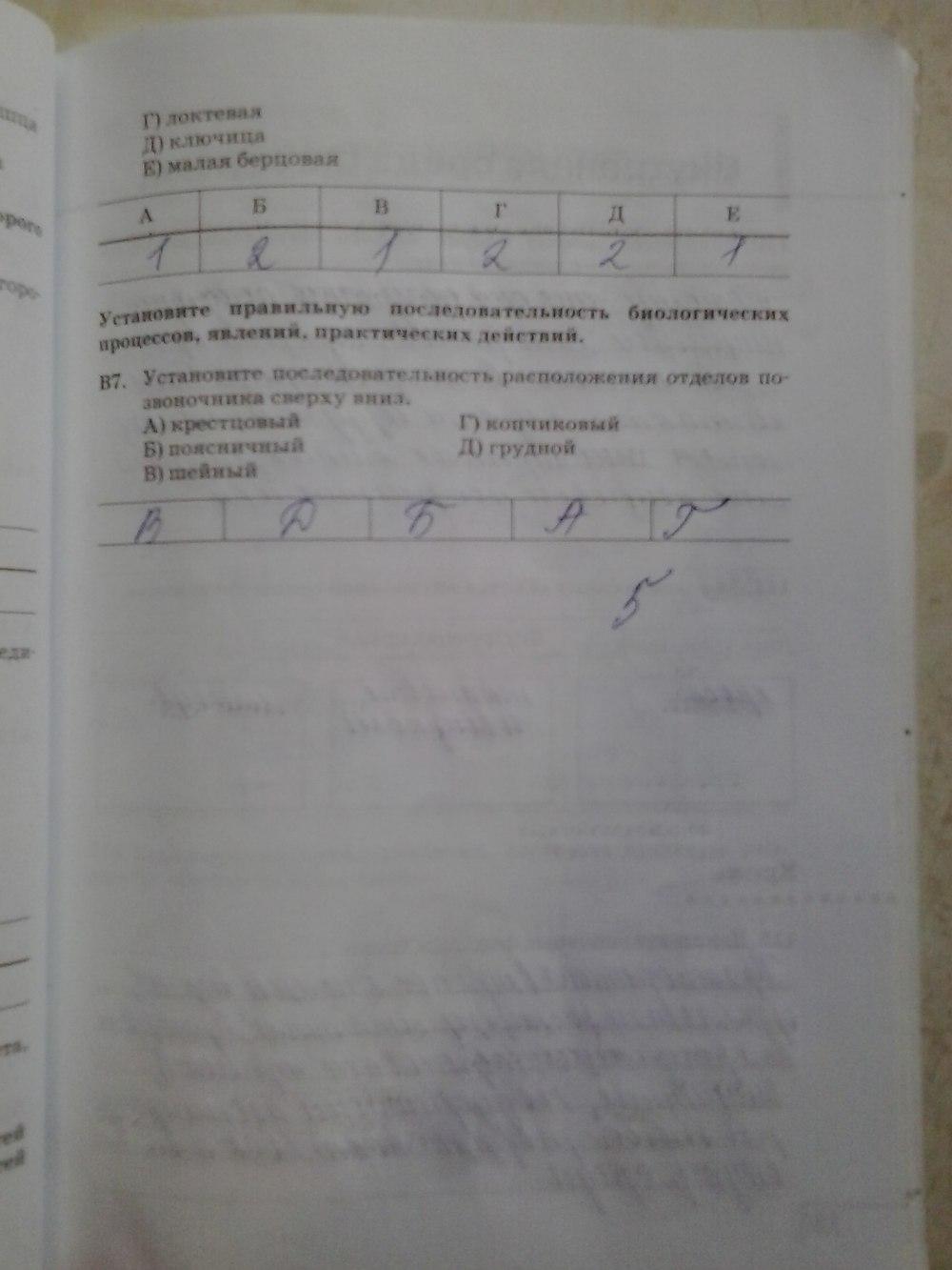 Гдз по биологии за 8 класс рабочая тетрадь агафонова