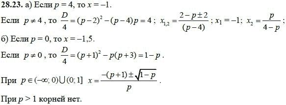 ГДЗ по алгебре 8 класс Макарычев 1997-2001г онлайн - номер 28