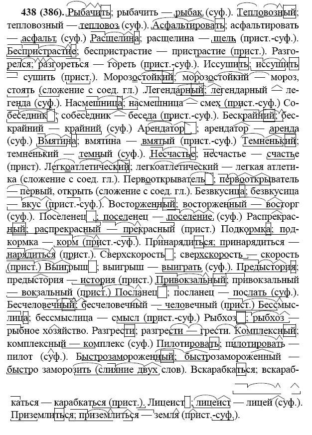 Русский язык 7 класс баранов гдз 438